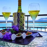Fyrbäddsrum - balkong - havsutsikt - Terrass