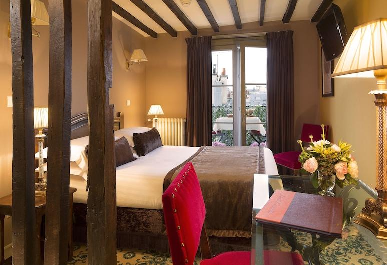 Hotel des Deux Continents, Paris, Dobbeltrom, Gjesterom