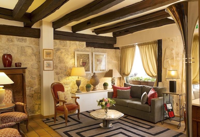 Hotel du Cygne, Παρίσι, Εσωτερικοί χώροι ξενοδοχείου