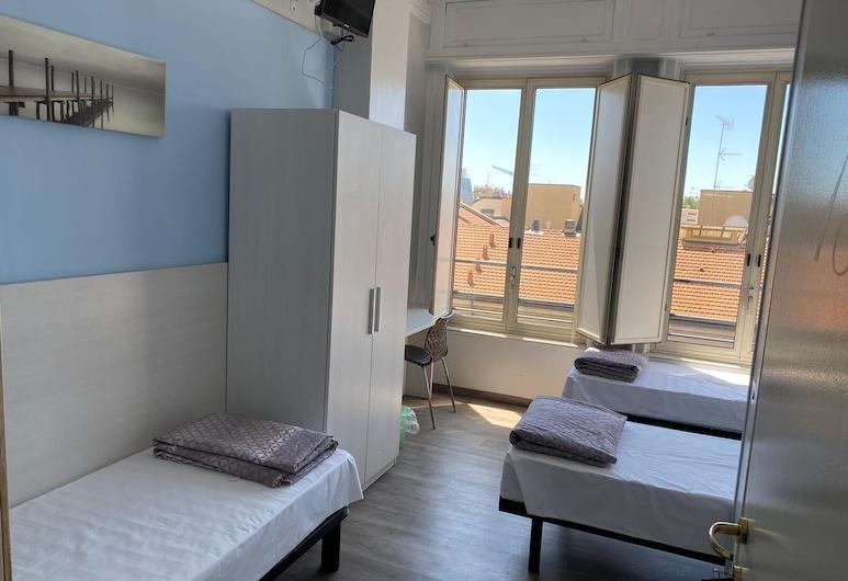 Hotel Kennedy, Μιλάνο, Κρεβάτι Ξενώνα, 1 Μονό Κρεβάτι, Κοινόχρηστο Μπάνιο (4 people), Δωμάτιο επισκεπτών