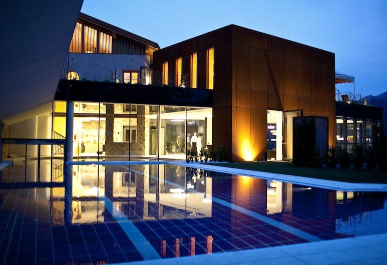 格魯納鮑姆飯店, 布列瑟農, 飯店入口 - 夜景