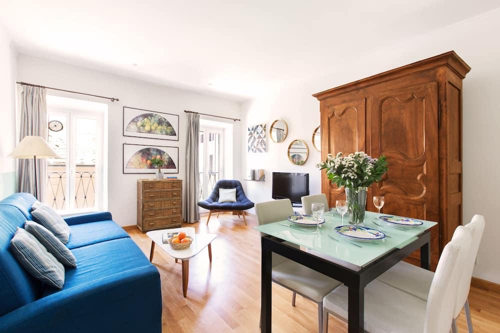 Appartement, 1 chambre, coin cuisine, vue ville - Coin séjour