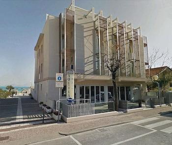 Selline näeb välja Albergo Aquila, Rimini