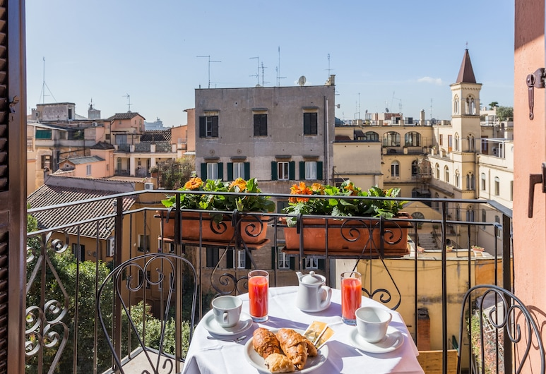 Hotel Modigliani, Roma, Balkonas