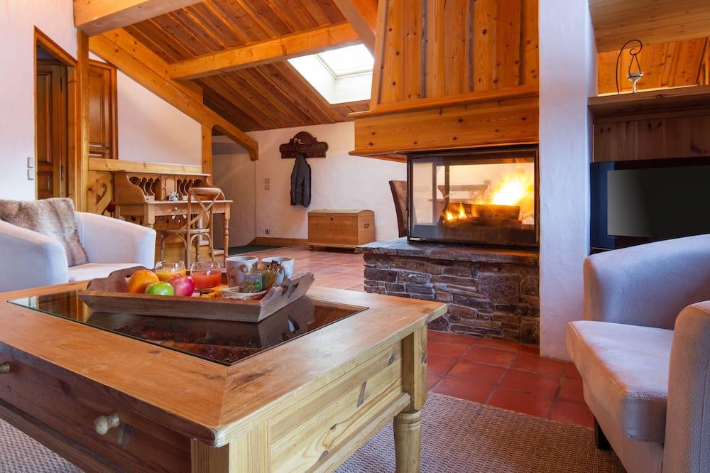 Phòng Suite, 2 phòng ngủ, Lò sưởi - Phòng khách