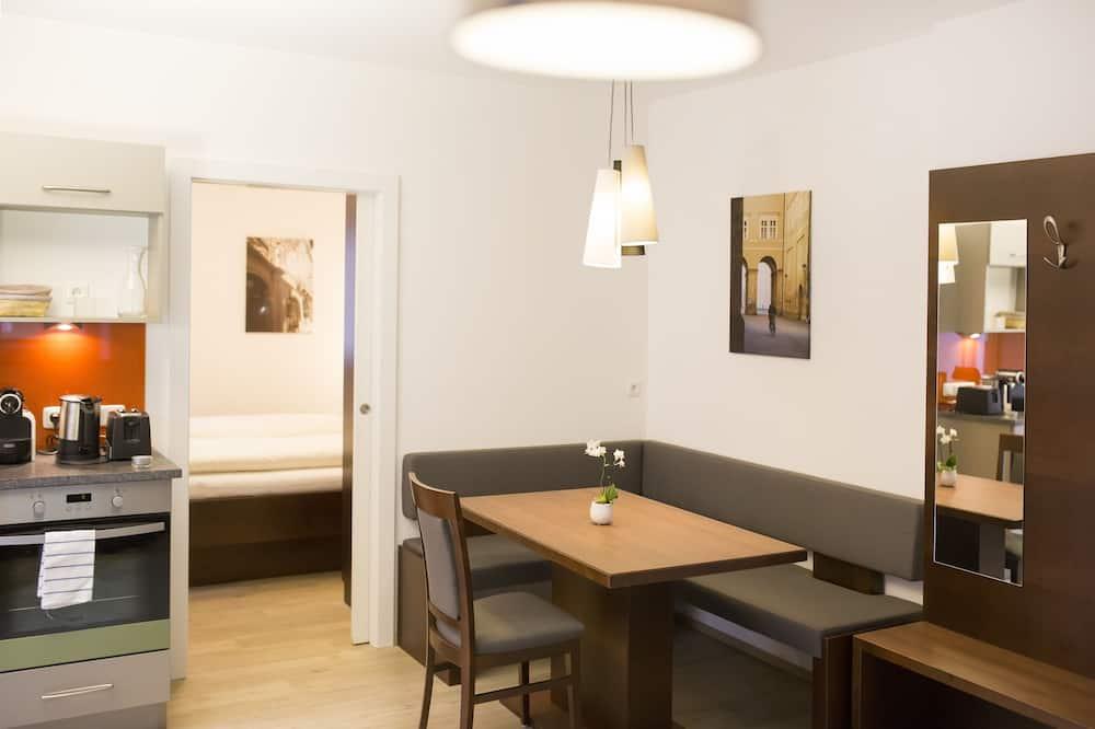 公寓, 1 間臥室, 非吸煙房, 附屬樓 (Straßenseite, inkl. 30€ Endreinigung) - 客廳