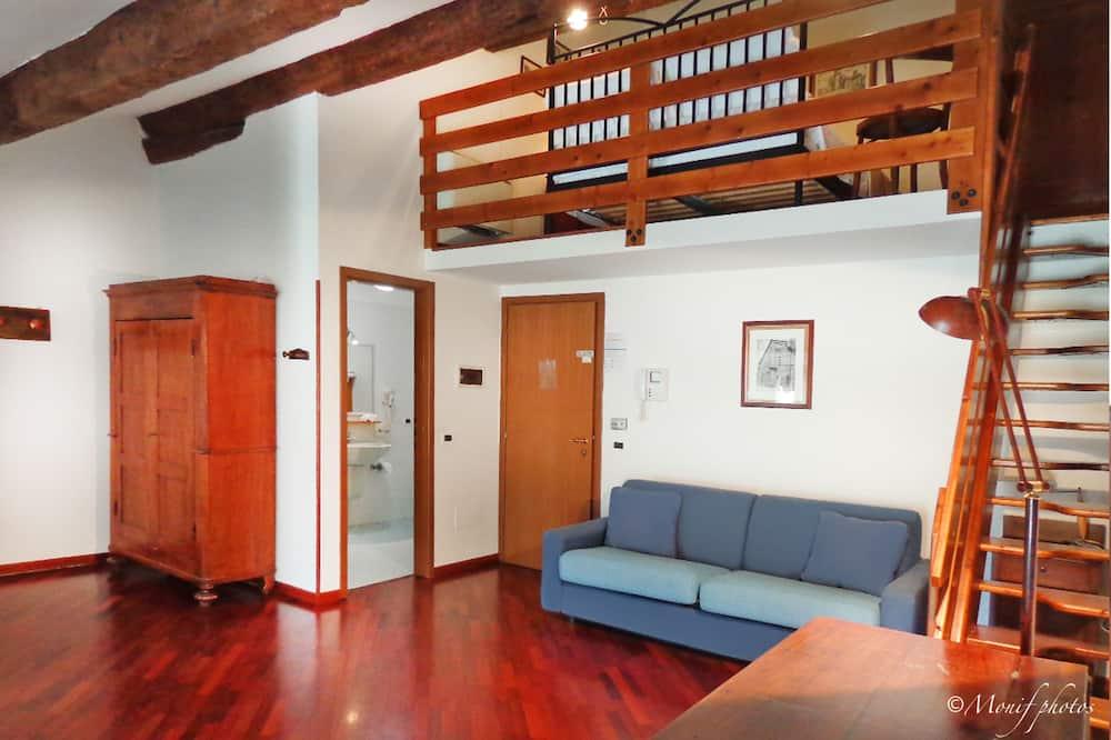 Διαμέρισμα, 1 Υπνοδωμάτιο, Κουζινούλα (4 pax) - Καθιστικό