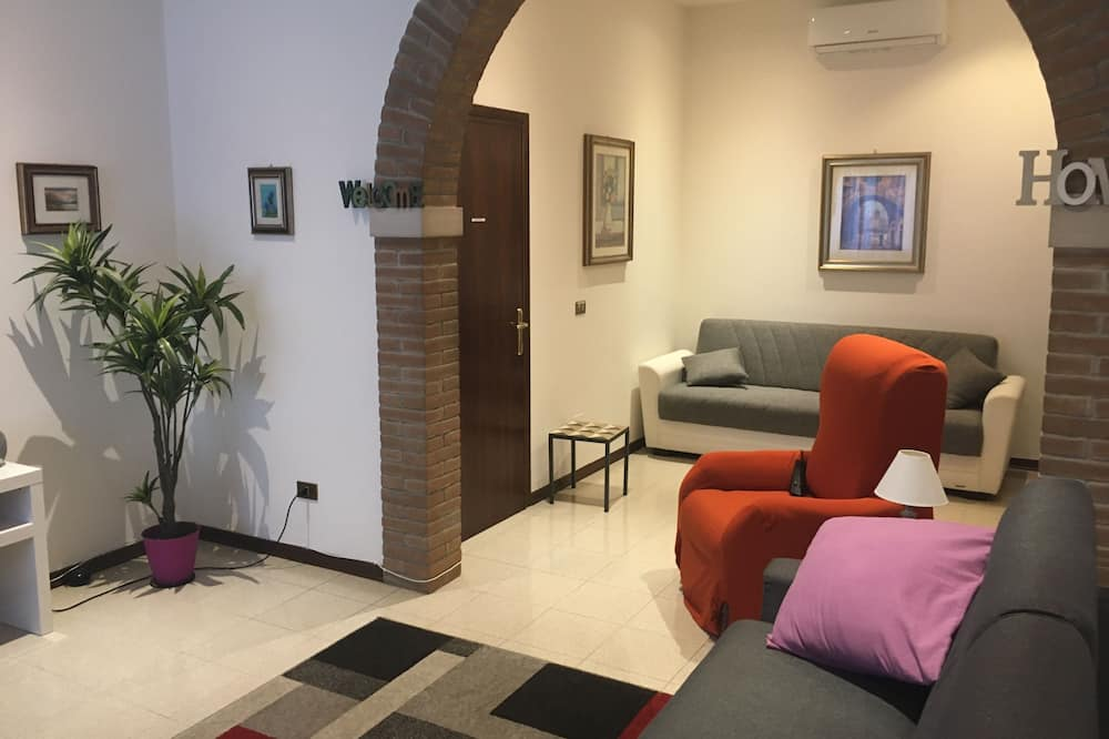 Family Apartment, 1 Bedroom, Private Bathroom, Ground Floor - Living Room