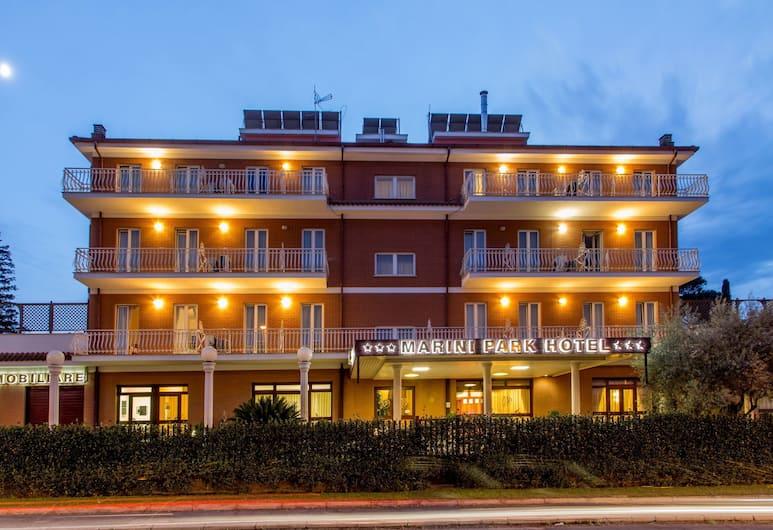 Marini Park Hotel, Rome, Hotel Front – Evening/Night