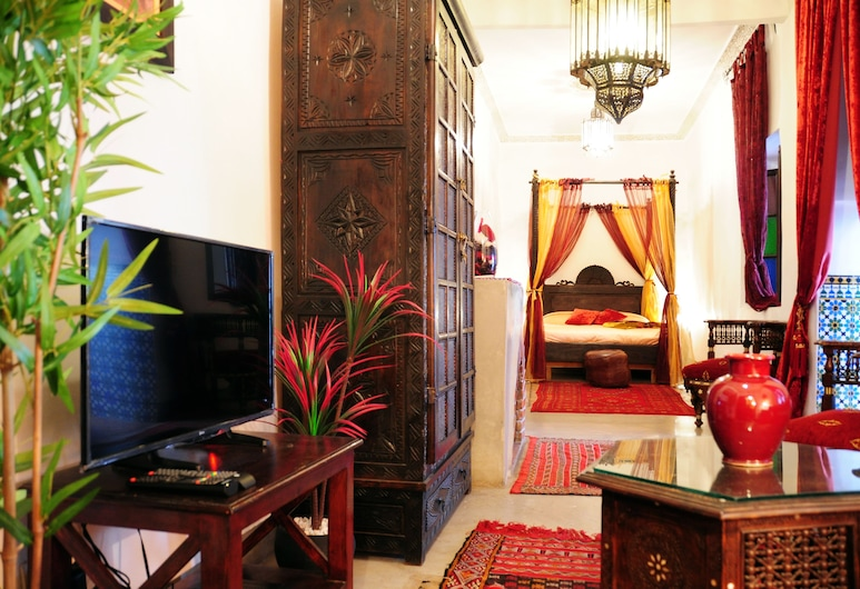 Riad Al Mamoune, Marrakech, Suite Júnior, Quarto
