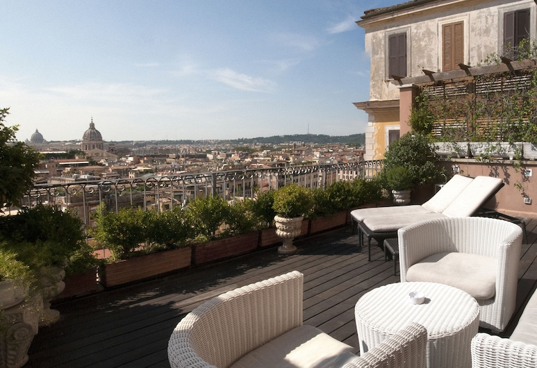 Hotel Scalinata di Spagna, Rome, Panoramic Suite, Terrace, Guest Room