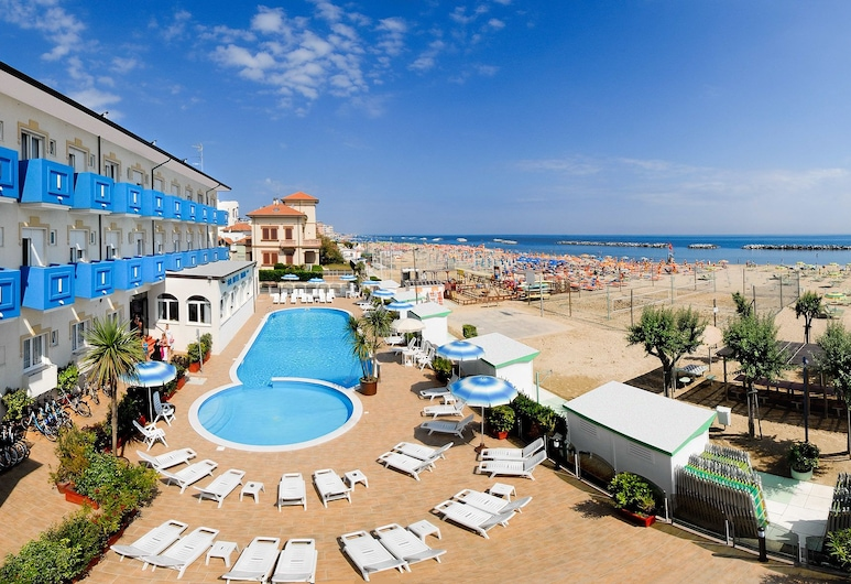 Hotel Diana, Rimini, Letecký pohled