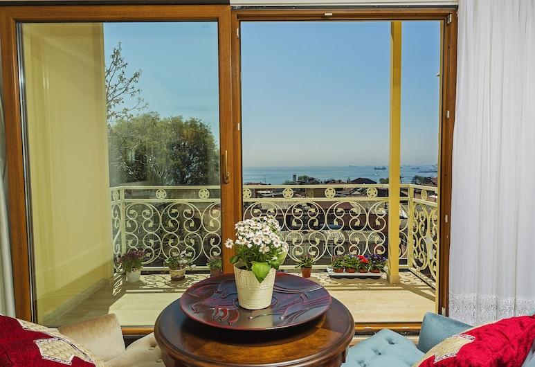 Ada Hotel Istanbul, Istanbul, Leilighet, 1 soverom, utsikt mot sjø, anneks, Balkong