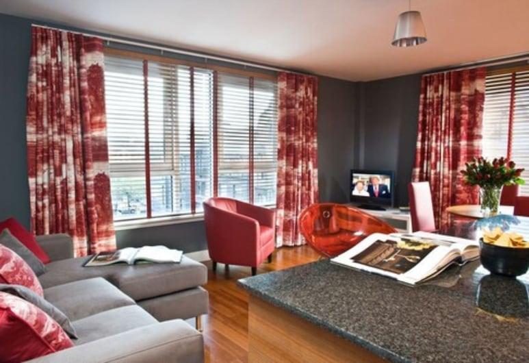 Dreamhouse Apartments Glasgow City Centre, Glasgow, Standard-Apartment, 1 Schlafzimmer, Wohnzimmer