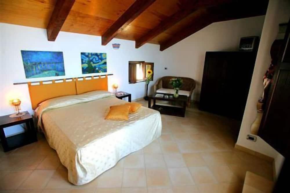 Chambre Double, terrasse, vue mer - Coin séjour