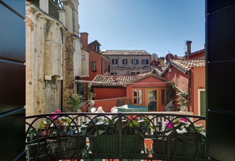 Hotel San Samuele, Veneza, Quarto casal, Varanda, Vista para a cidade, Vista para a cidade