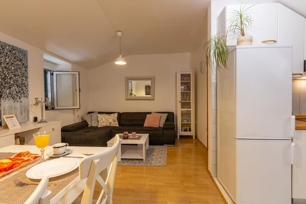 Rodinný apartmán, 2 spálne, výhľad na mesto - Obývacie priestory