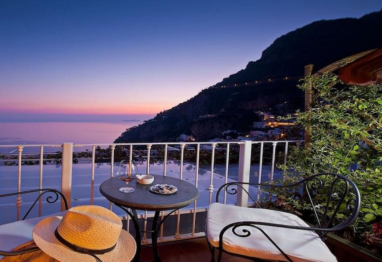 Hotel Villa Gabrisa, Positano, Doppia Standard, 1 camera da letto, terrazzo, vista mare, Terrazza/Patio