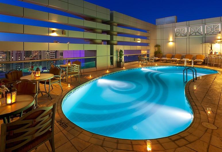 Al Manzel Hotel Apartments, Abu Dhabi, Utendørsbasseng