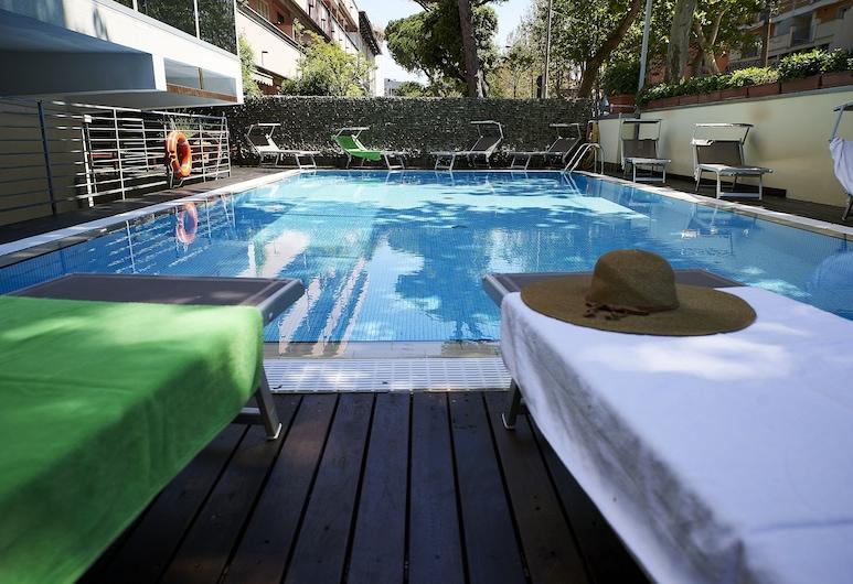 Alisei Palace Hotel, Riminis, Lauko baseinas
