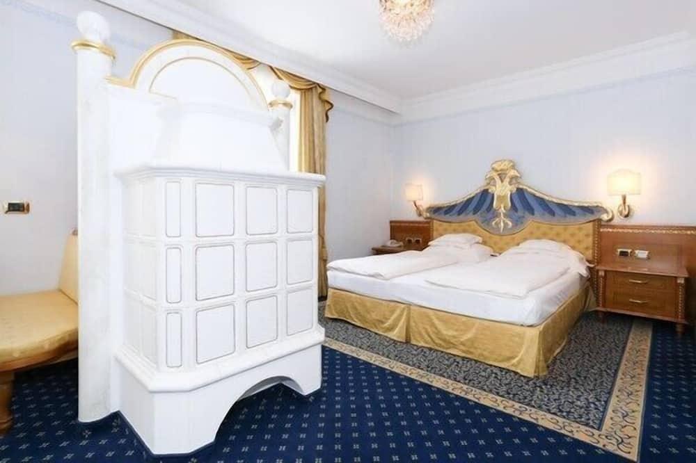 Paaugstināta komforta divvietīgs numurs, viena guļamistaba, ledusskapis - Vannasistaba