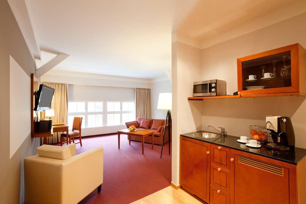 Kitchenette en la habitación