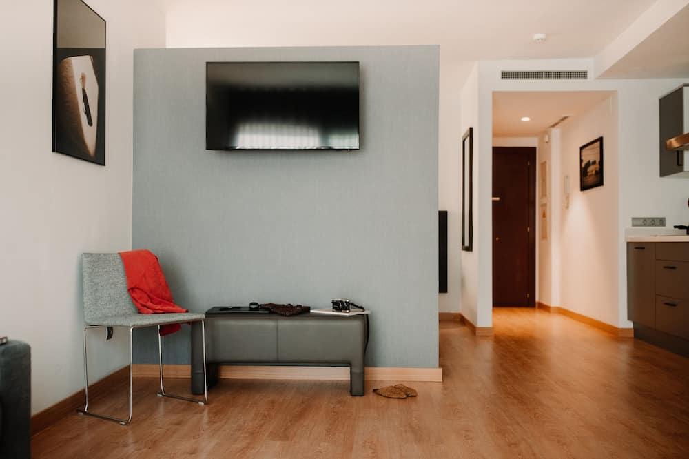 Penthouse, Terrasse - Wohnzimmer