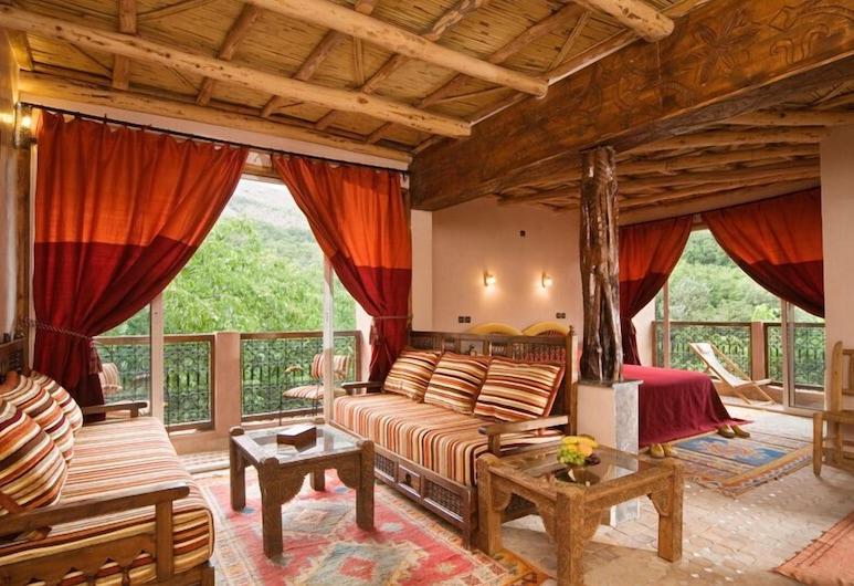 Dar Imlil, Asni, Deluxe Double Room, Living Area