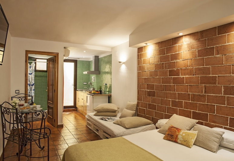 AinB Las Ramblas-Guardia Apartments, Barcelone, Studio, Chambre
