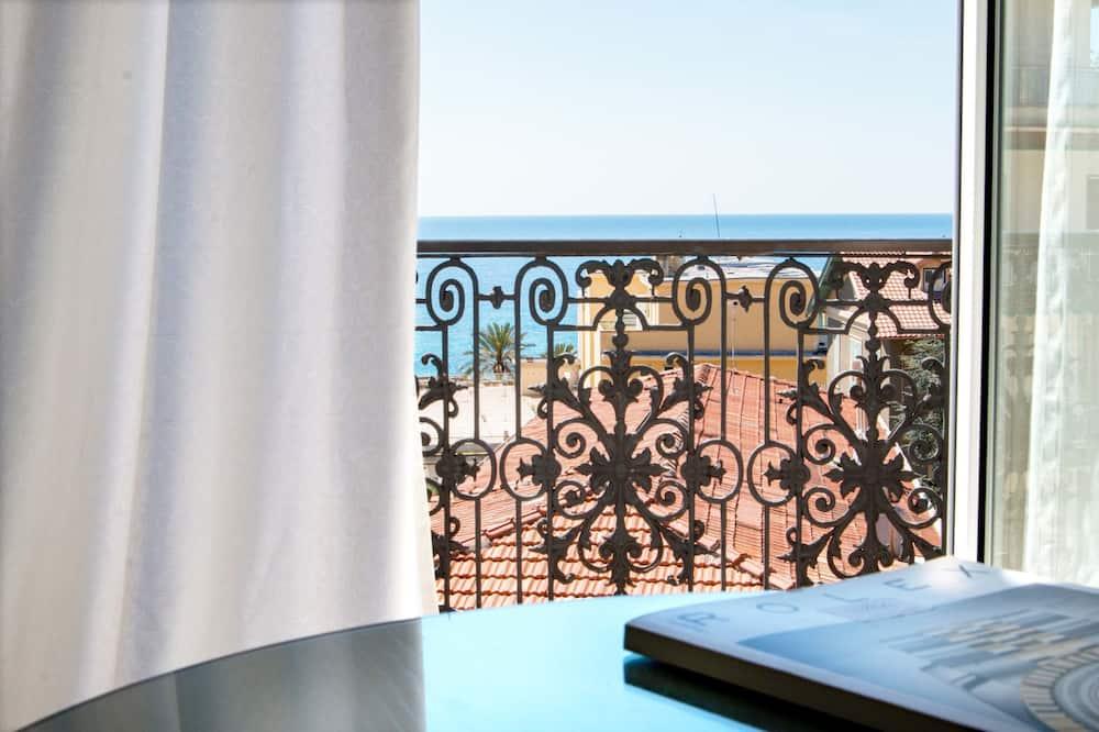 Doppel- oder Zweibettzimmer, eingeschränkter Meerblick - Ausblick vom Zimmer