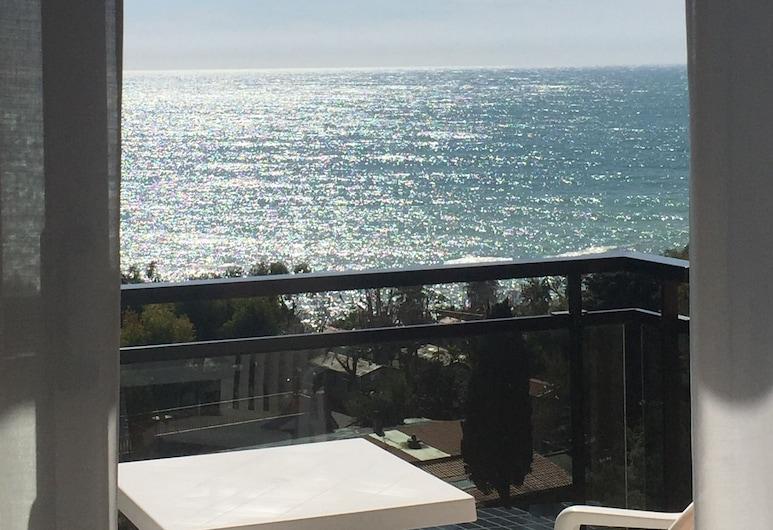 Hotel Bobby Executive, Sanremo, Dobbeltrom, balkong, utsikt mot hav, Gjesterom