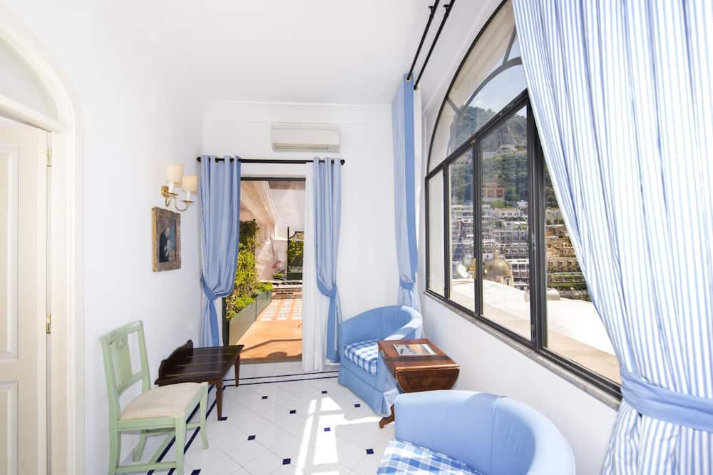 Departamento, 2 habitaciones, balcón, vista al mar - Sala de estar