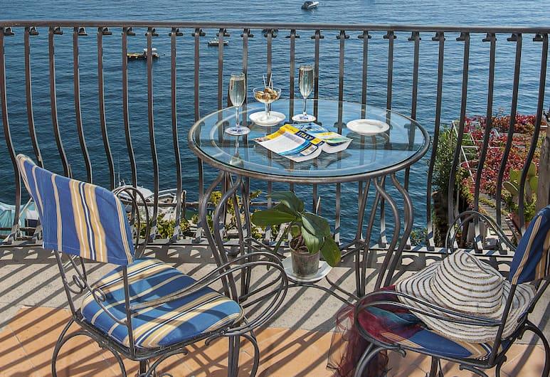 Miramare, Positano, Perushuone, 1 suuri yhden hengen sänky, Merinäköala, Parveke