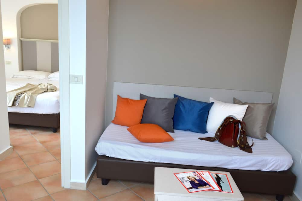 Apartmán, balkón - Obývacie priestory