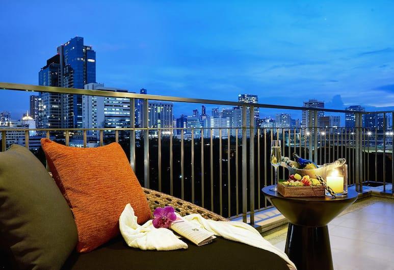 デューシット スイート ホテル ラッチャダムリ、バンコク, バンコク, プレミアム スイート 1 ベッドルーム, バルコニー