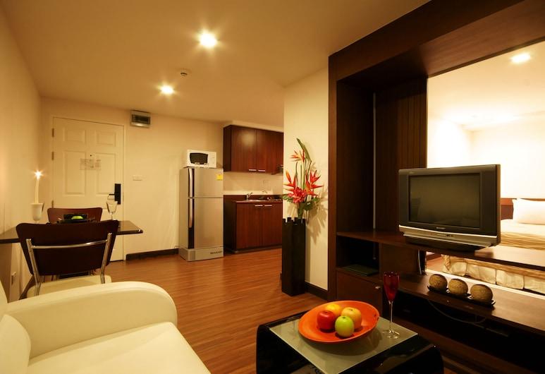 アイ レジデンス ホテル サトーン, バンコク, ジュニア シングルルーム, リビング エリア
