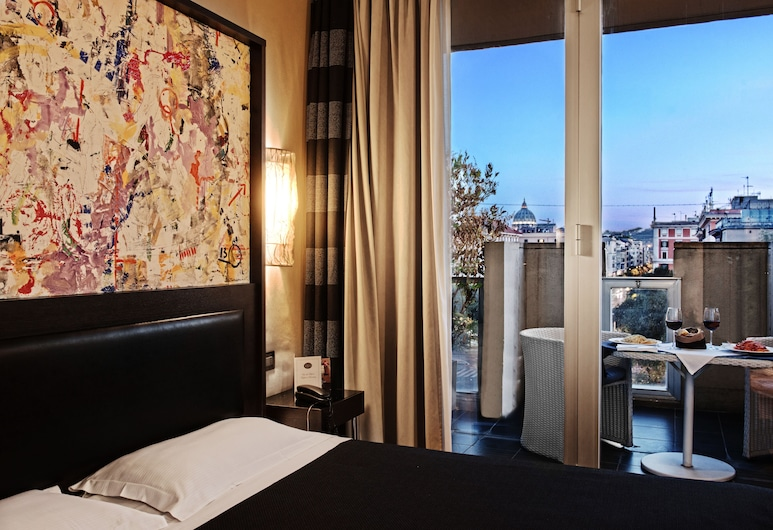 Twentyone Hotel, Rom, Deluxe dubbelrum eller tvåbäddsrum, Gästrum