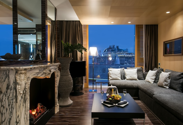 Romeo Hotel, Neapol, Romeo Bay View Suite, Obývací pokoj