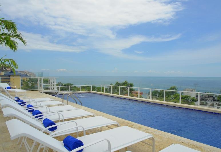 Santorini Hotel & Resort, Santa Marta, Terasa / vidinis kiemas