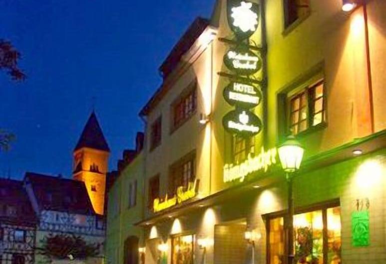 Hotel Weinhaus Grebel, Koblenz, Entrada del hotel (tarde o noche)