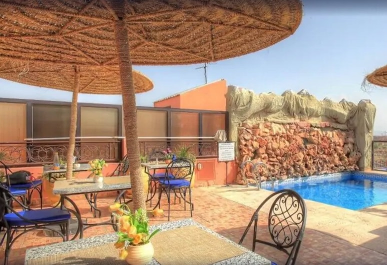 Hotel Mont Gueliz, Marrakech, Piscina en el piso superior