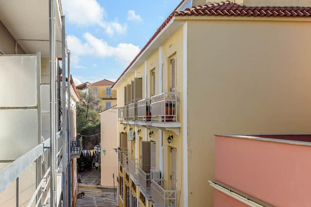 Standardværelse med dobbeltseng eller 2 enkeltsenge - balkon - byudsigt - Altan