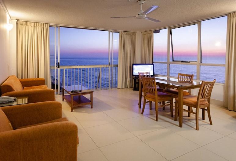 Chateau Beachside, Surfers Paradise, Διαμέρισμα, 1 Υπνοδωμάτιο, Στην παραλία, Περιοχή καθιστικού