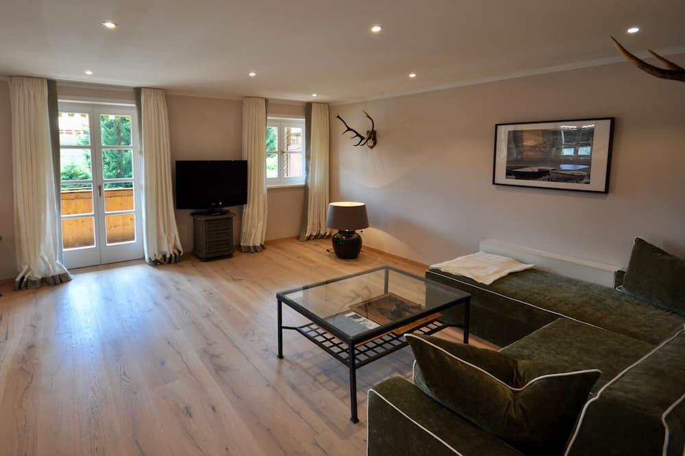 奢華套房, 1 間臥室, 山景 (Single Use) - 客廳
