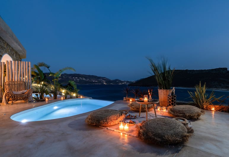 Panormos Village, Μύκονος, Superior Σουίτα, 1 King Κρεβάτι, Ιδιωτική Πισίνα, Θέα στη Θάλασσα, Δωμάτιο επισκεπτών