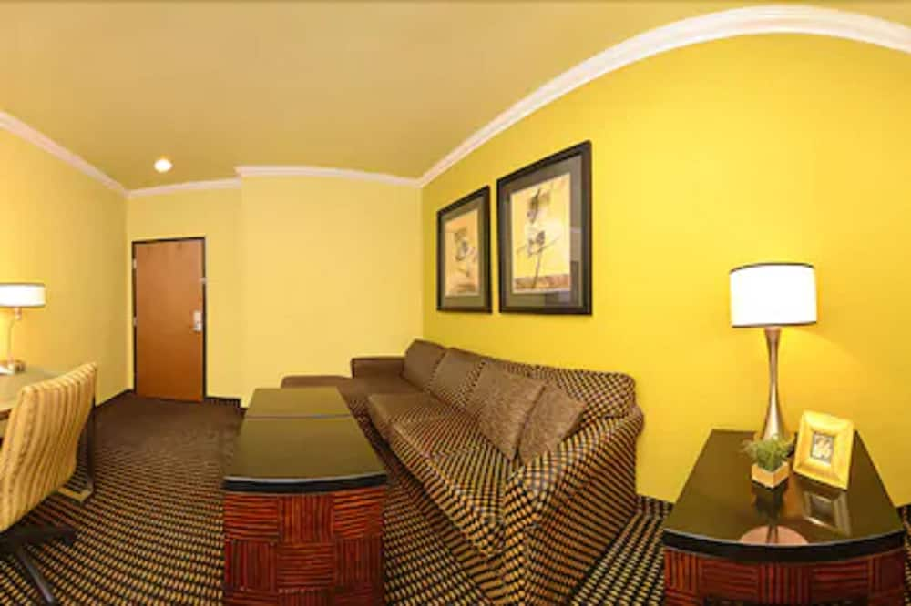 Suite, 1 King Bed, Accessible, Non Smoking (Walk-in Shower;with Sofabed) - Living Area