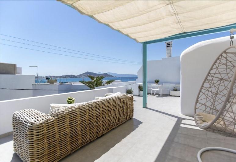 Korali Boutique Hotel, Naxos, Exclusive Apartment, 2 Bedrooms, Beach View, Oceanfront, Terrace/Patio
