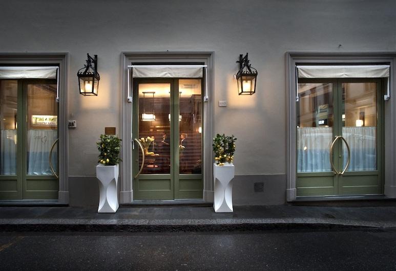 格蘭德愛茉莉溫泉飯店, 佛羅倫斯, 飯店入口