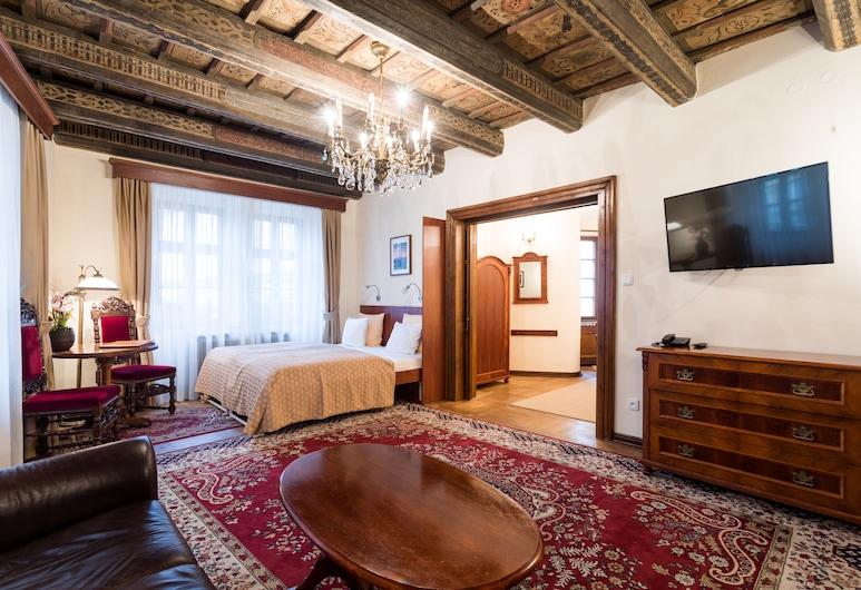 Hotel Aurus, Prag, Familiesuite, Stue