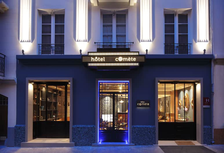 Hotel Comete, Paris, Hotellets facade